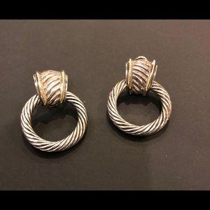 Vintage David Yurman door knocker earrings!